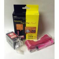 Набор для заправки BURSTEN Plug-n-Print к картриджам HP 178/920/655 Magenta на 20 заправокм
