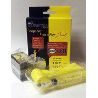 Набор для заправки BURSTEN Plug-n-Print к картриджам HP 178/920/655 Yellow на 20 заправок