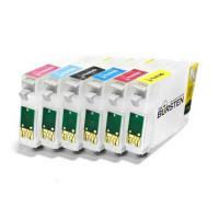 НАНО-картриджи BURSTEN NANO 1 для EPSON* P50, PX660, PX720WD, PX820FWD  (T08014- T08064) x 6 шт.